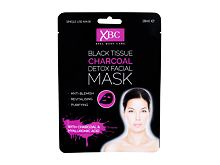 Maschera per il viso Xpel Body Care Black Tissue Charcoal Detox Facial Mask 28 ml