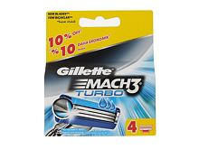 Lame de rechange Gillette Mach3 Turbo 4 St.