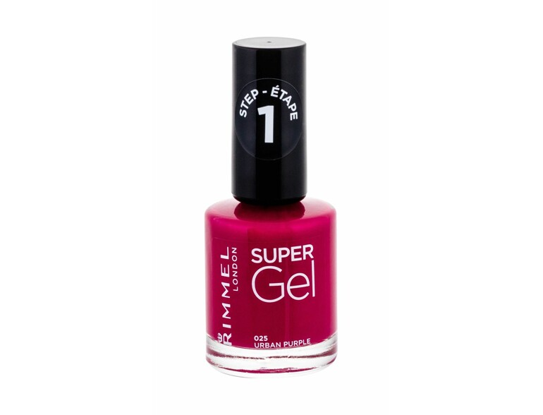 Nagellack Rimmel London Super Gel STEP1 12 ml 025 Urban Purple