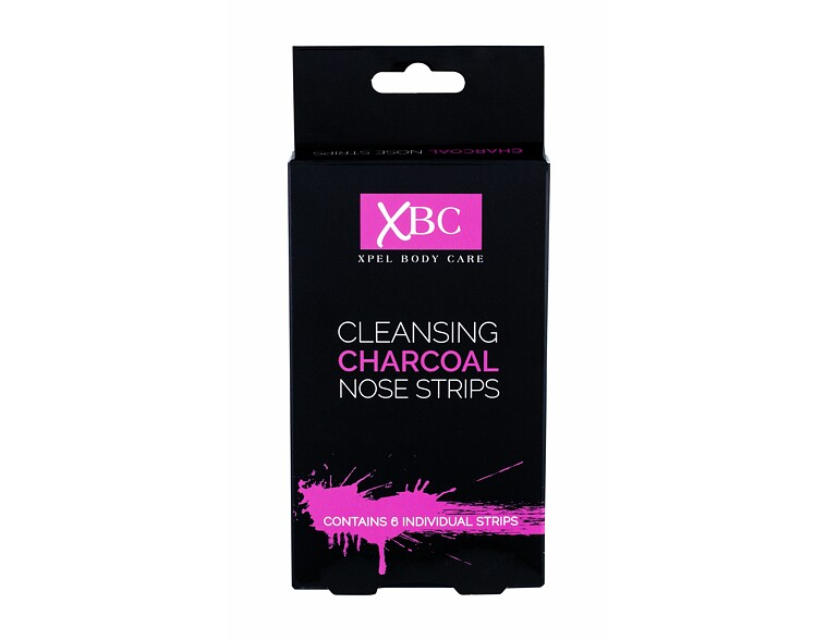 Gesichtsmaske Xpel Body Care Cleansing Charcoal Nose Strips 6 St.