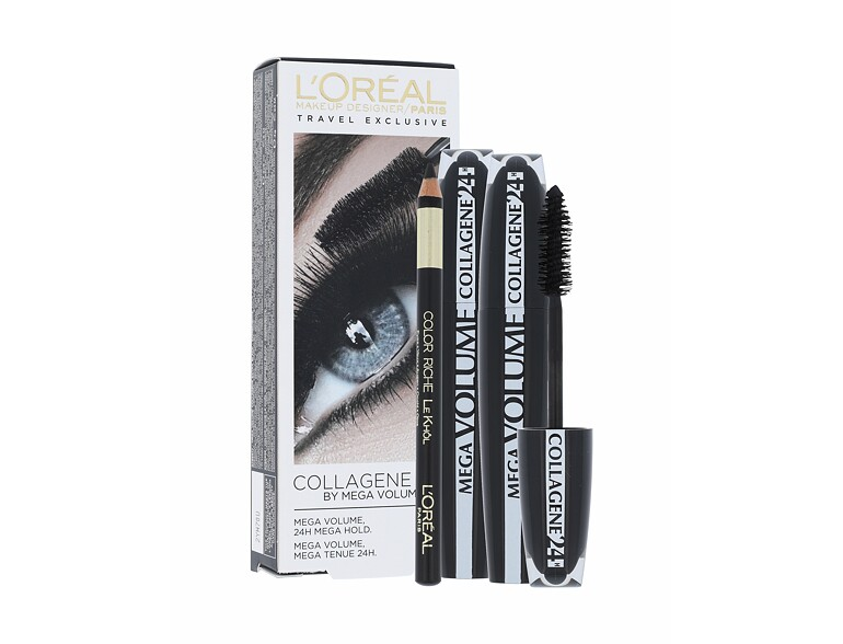 Mascara L´Oréal Paris Mega Volume Collagene 24h 2x9 ml Sets