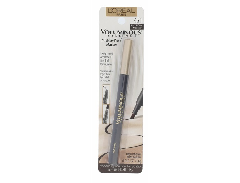 Eyeliner L´Oréal Paris Voluminous Mistake-Proof Marker 1,6 g 451 Black Brown