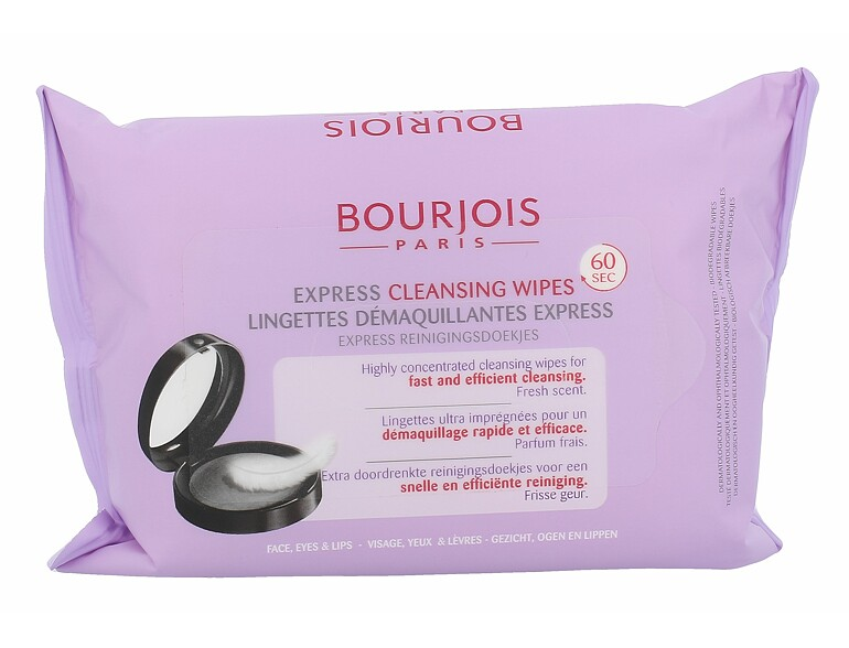 Lingettes démaquillantes BOURJOIS Paris Express Cleansing Wipes 25 St.