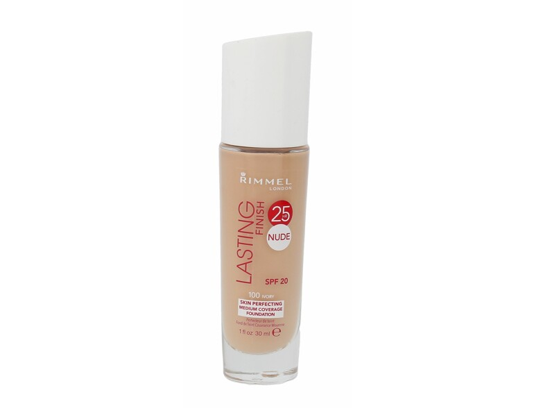 Make-up Rimmel London Lasting Finish 25h Nude Foundation 25hr Nude SPF20 30 ml 100 Ivory